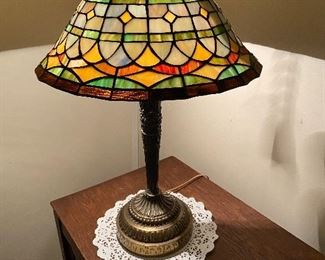 Stain glass lamp - $30
