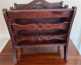 Vintage wooden magazine rack some flaws  - $15