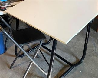 Adjustable drafting/art table with chair. - $65