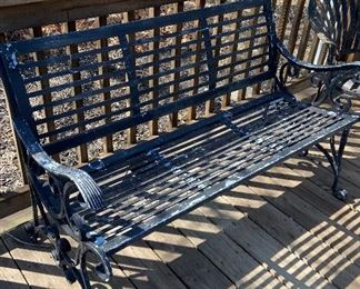 "From""New Orleans"" wrought iron bench. Very old and heavy. $200 (No Discount)"