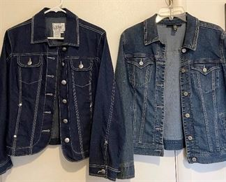 Ladies jean jackets - Left is size PM $8, Right is size M $10