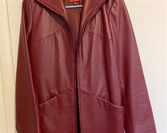 Red leather coat - $22