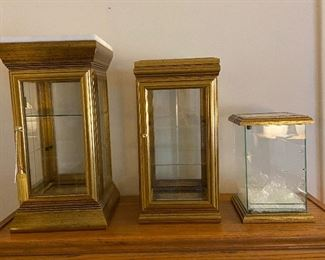 No discount will apply to these items. Gold show cases - Left to right, $30 (sold) - middle $25 - small $25