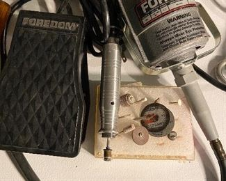 Additional photo of Foredom Dremel, foot control and tools. Have the key.