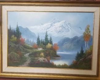 Large original oil painting by D. Morris