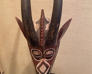 Tribal Mask with Horns