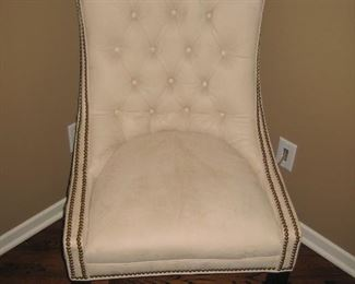 Eight Nail Head Upholstered Chairs by Designer Marketplace