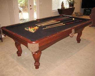 8' Brunswick Pool Table; includes Pool Sticks, Bridge Stick and Balls