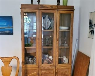 hutch with collectibles inside