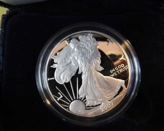 Lot 1. 2007 Silver Eagle Boxed Proof