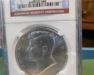 Lot 5. 2015 1 Oz. Kennedy Silver Medal (NGC MS69)