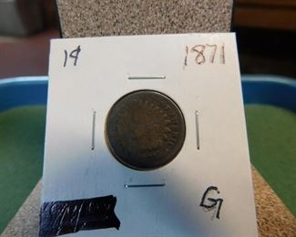 Lot 6. 1871 Indian Head Penny(G)