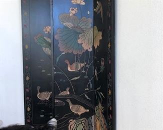 Large heavy Chinese carved screen