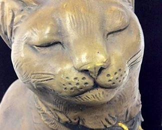 Signed Telle M. Stein Cat Sculpture