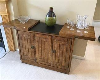 Vintage Bar/Cabinet w/Slate Top by Drexel Furniture