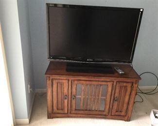 TV/Media Cabinet w/Sharp TV