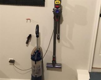 Dyson V7 Animal, Stick Vac and Shark Navigator Upright Canister Vac