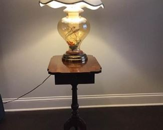 Hidden Treasures Table and Lamp