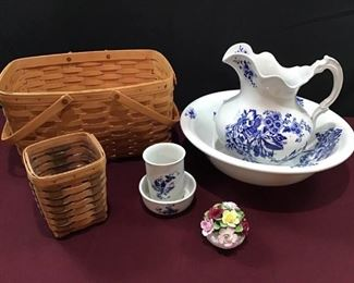 Longaberger Baskets, Aynsley China, and More