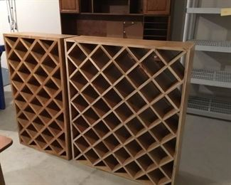 Two Wood Wine Cellar Racks