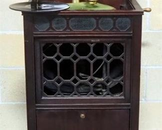 Antique Edison Floor Standing Phonograph Cabinet, Still Operates
