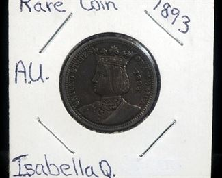 1893 Isabella Quarter, Rare, Second Commemorative Coin Issued By The United States
