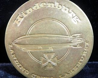 "1980s Brass Pin Marked ""Hindenburg Landing Crew Lakehurst"""