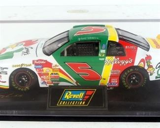 Terry Labonte #5 Kellogg's Chevy Monte Carlo (White And Green) 1:24 Diecast In Display Case And Chevy Monte Carlo (Yellow And Red) In Box