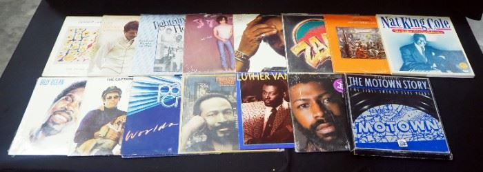 LP Albums Includes Quincy Jones, Mellencamp, Carlos Santana, Teddy Pendergrass, Luther Vandross, Marvin Gaye, Billy Ocean, Pablo Cruise And More