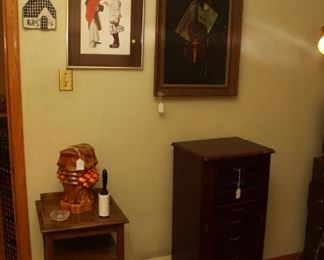 Large Jewelry box , night stand, owl lamp, various pictures