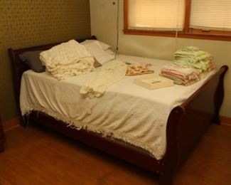 Bed( not Walnut- but goes with dresser set)