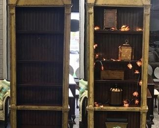 Gold French Country Plate Display Cabinet
