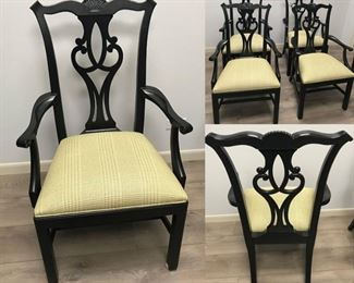 Set of 4 Ethan Allen Chippendale Chairs
