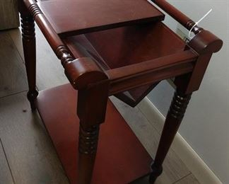 Ethan Allen Chair-side Book Table