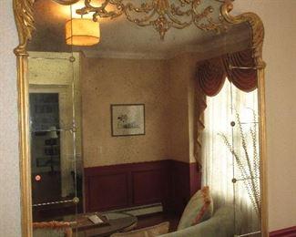 Stunning Ornate Gold Gilt Large Mirror