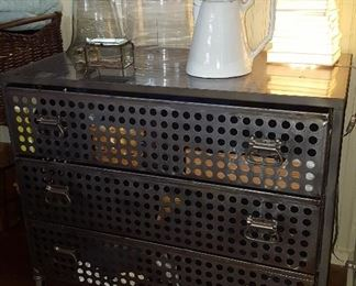 Industrial perforated chest from Interieurs.