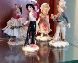 porcelain figurines $10