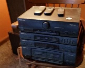 Pioneer stereo $40 and Fisher speakers $20