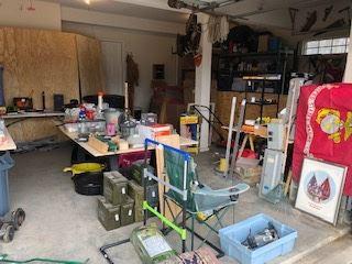 Marines, tools, building supplies