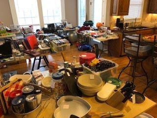 DVDs, office supplies, decor+