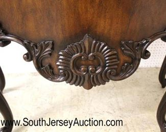 SOLID Mahogany French Style with Sunburst Top One Drawer Server by Maitland Smith Furniture  Auction Estimate $400-$800