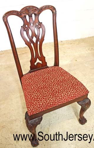 """BEAUTIFUL Set of 6 """"Maitland Smith Furniture"""" SOLID Mahogany Chippendale Style Dining Room Chairs  Auction Estimate $600-$1200 – Located Inside"""
