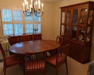 Mengel mid century modern table and chairs