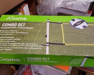 sporting goods -   badminton and volleyball sets