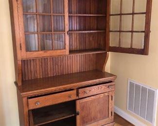 Step-back Pine wood cupboard Circa 1900