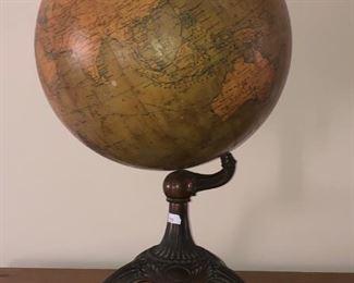 Hammons Terrestrial Globe on Metal Stand 12 inch Vintage