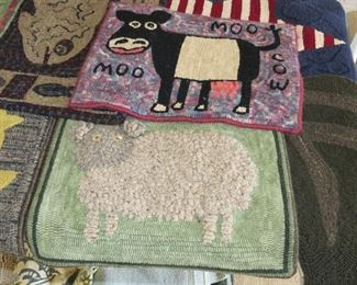 SMALL HOOK RUGS.