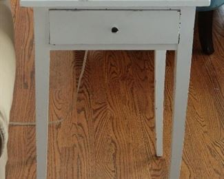 ANTIQUE PAINTED SIDE TABLE.
