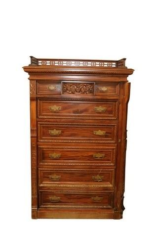 Victorian Sidelock chest of drawers