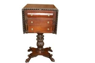 Antique 3 drawer nightstand
